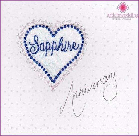 45 Jahre Seit Der Hochzeit Saphir Hochzeit