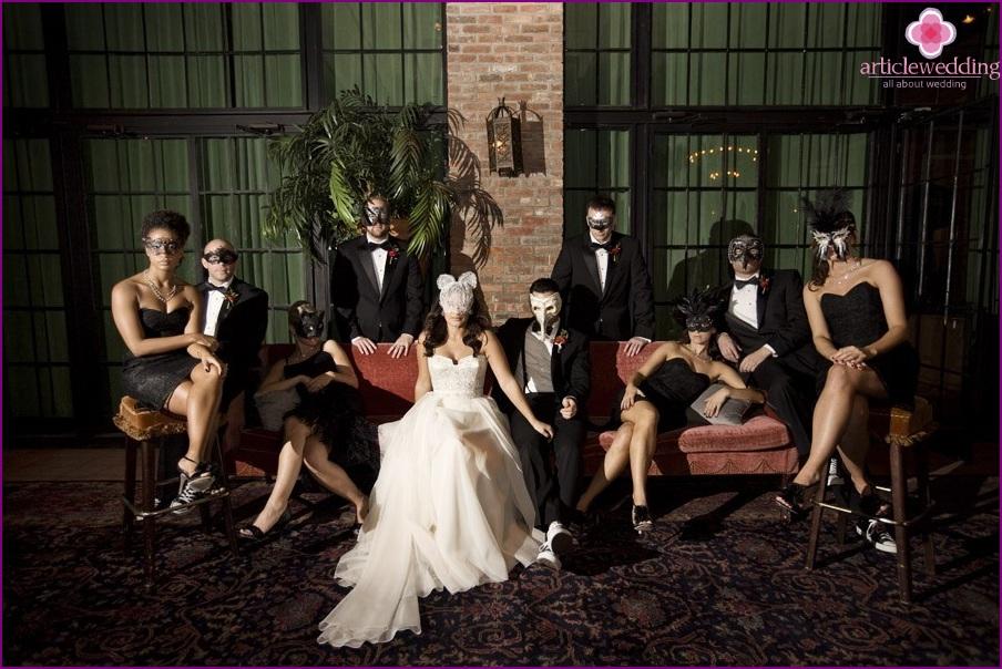 Wedding in style masquerade