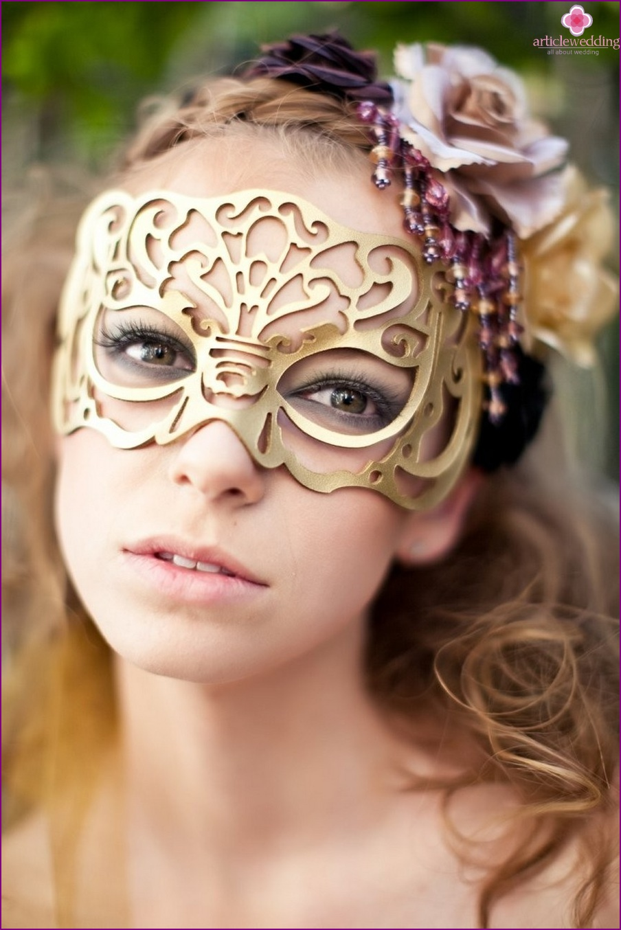 Masks for a wedding in the style of masquerade