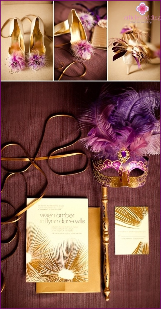 Accessories for celebration in style masquerade