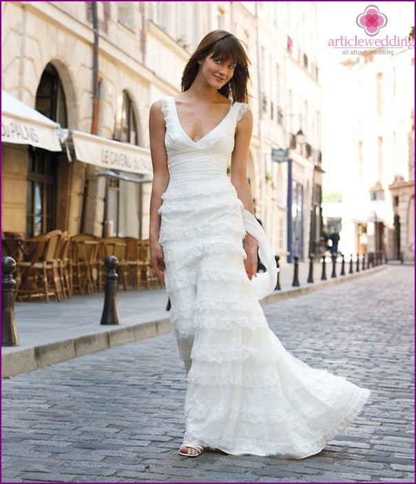 Bride in the style of France