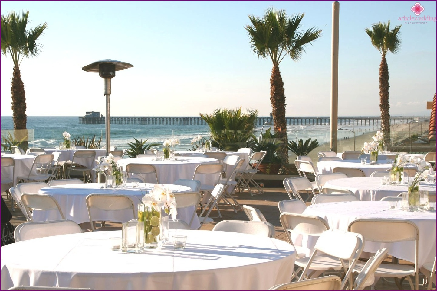 Wedding banquet on the beach