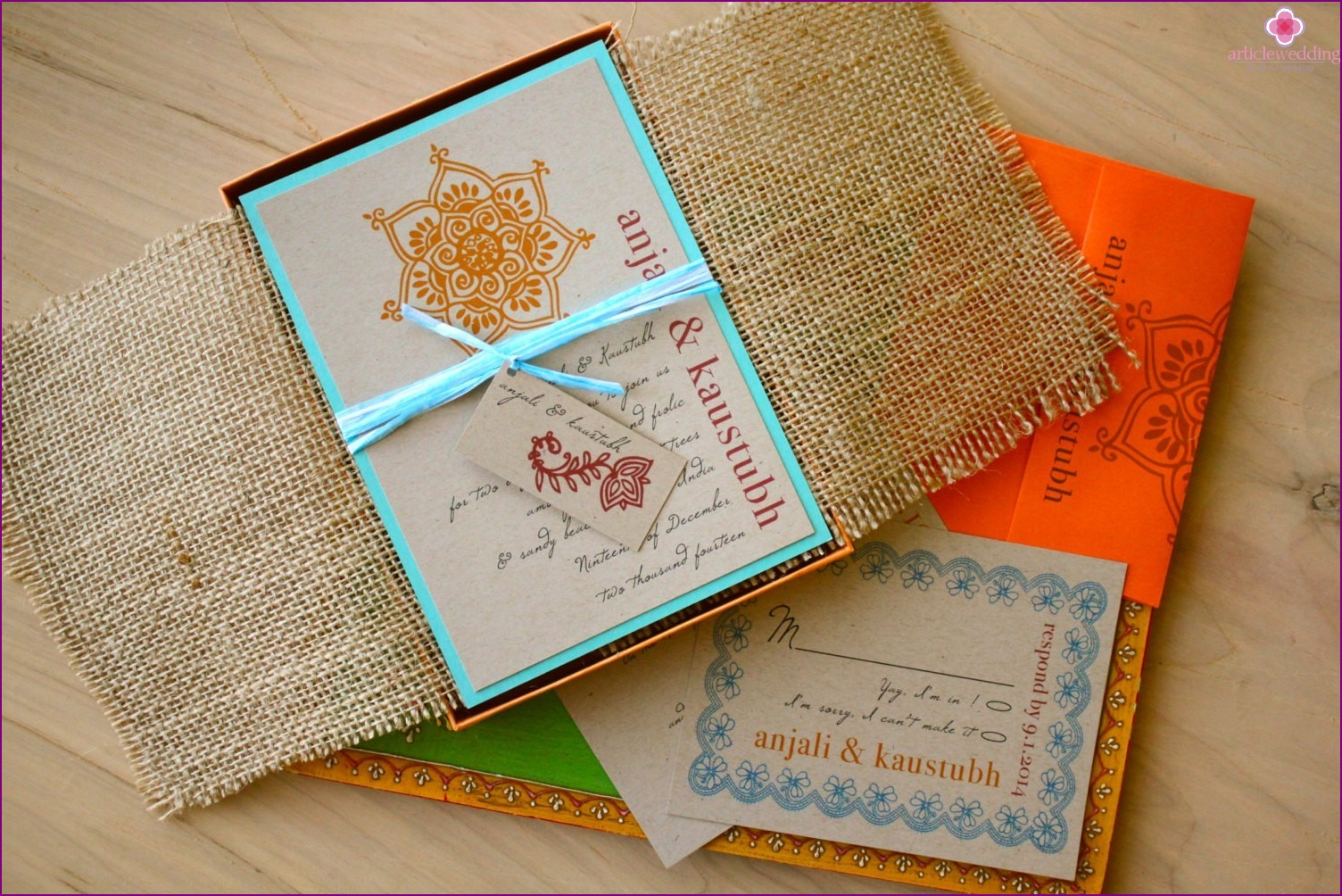 Invitations to the bohemian style