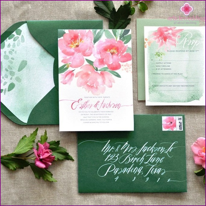 Bold colors for invitations