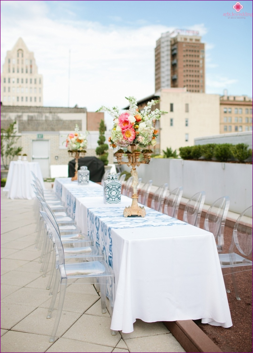 Organizing a wedding on the roof
