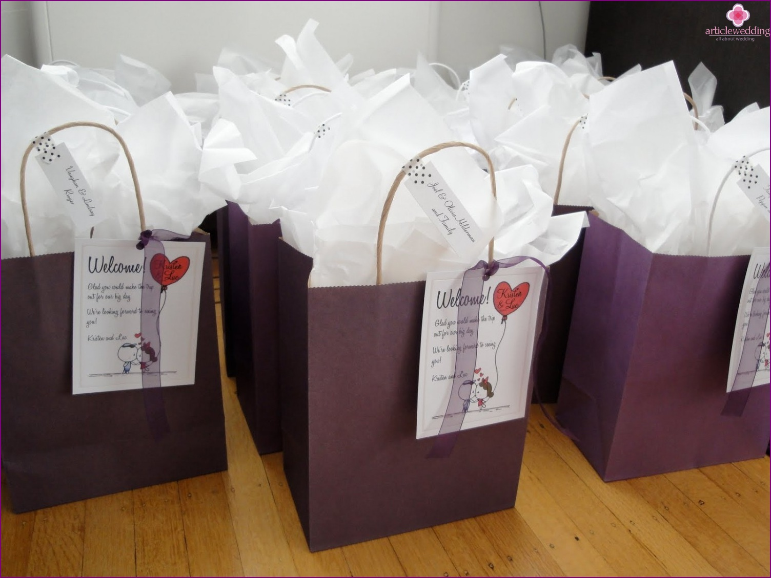 Gift Bags For Weddings For Hotel Guests: Wedding Trivia: Take Care Of The Guests