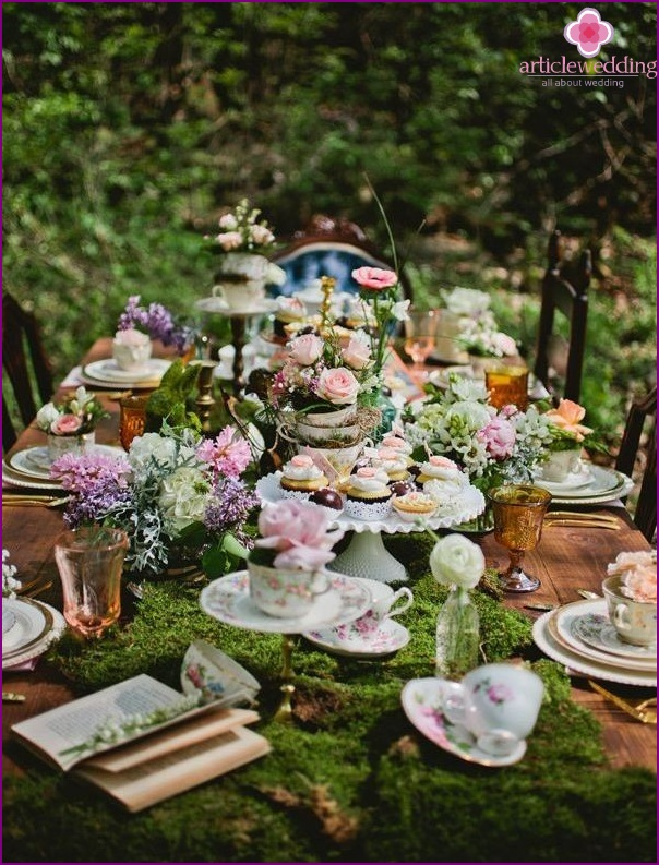 Eclectic or mixing of wedding styles