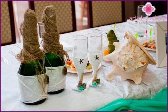 Decorate wedding shells