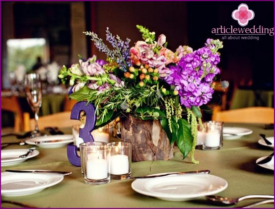 Wedding flowers in eco-style