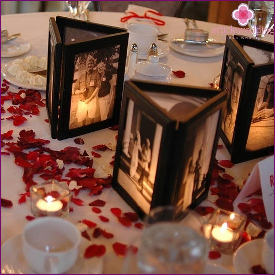 Decoration wedding photos