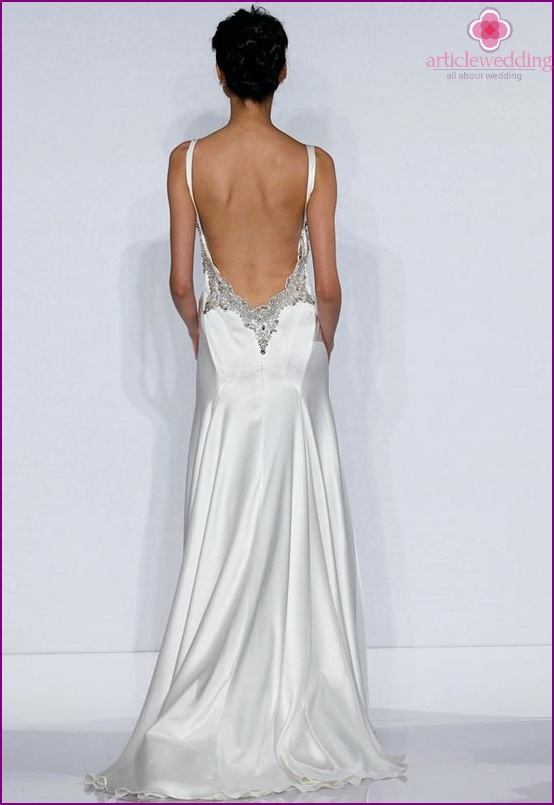 Wedding dress with open back as much as possible
