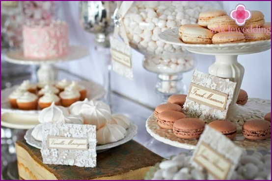 Wedding candybar in the French style