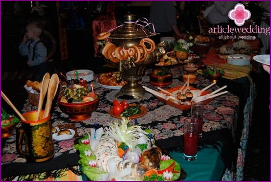 Wedding banquet in the Russian style