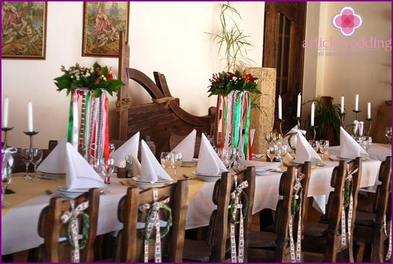 The decor of the wedding banquet