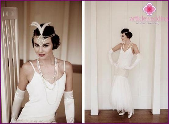 The image of the bride's era jazz