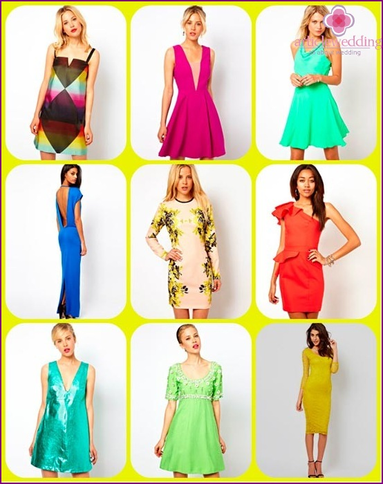 Bright dresses for bridesmaids