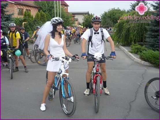 A two-wheeled vehicle at the wedding