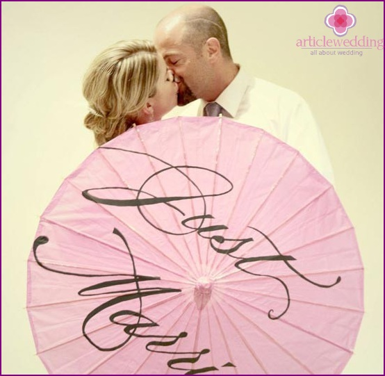 Personalized umbrella for wedding