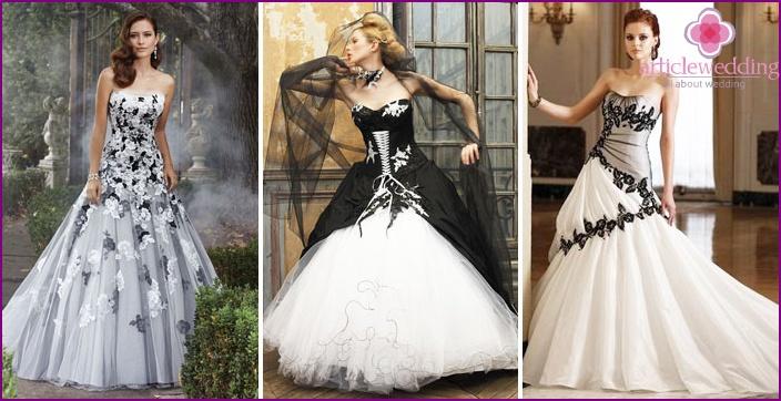 sort brudekjole