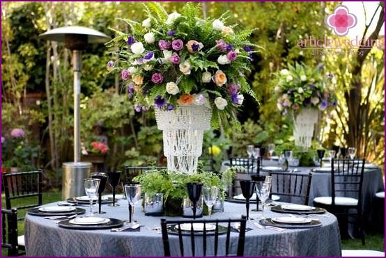 Decor sapphire wedding