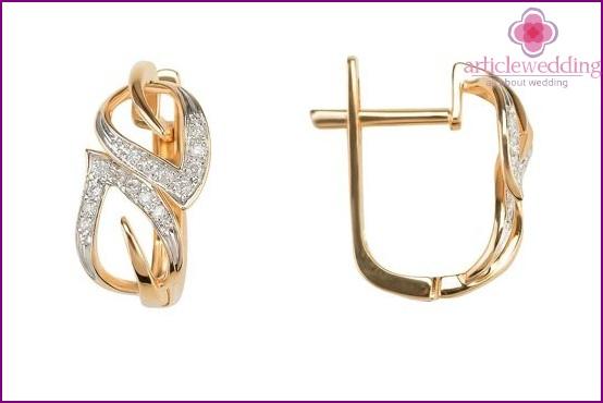 Earrings in a gift