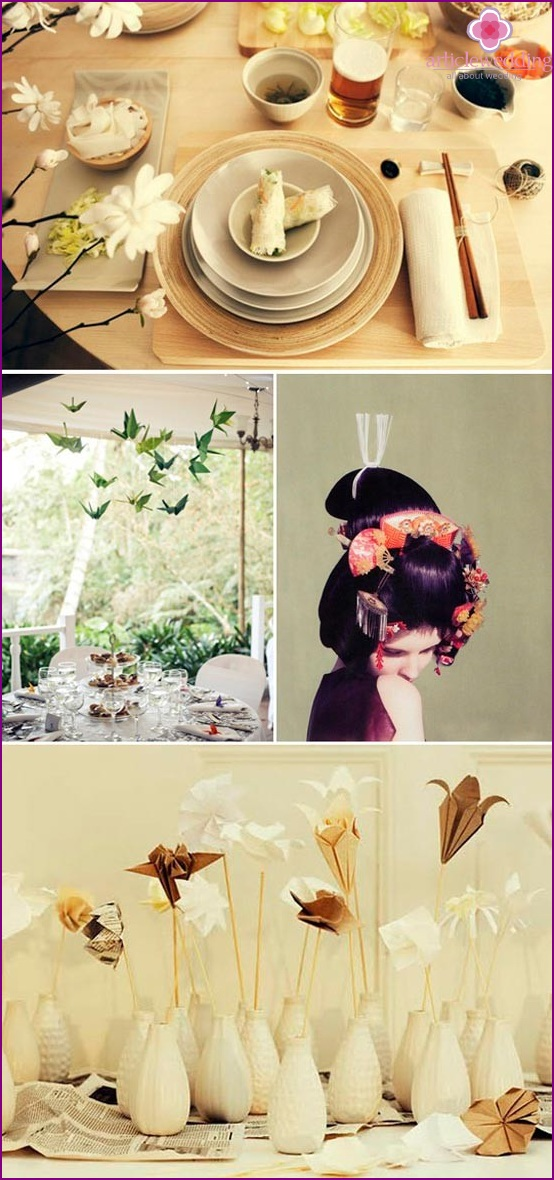 Decoration wedding table in the Chinese style