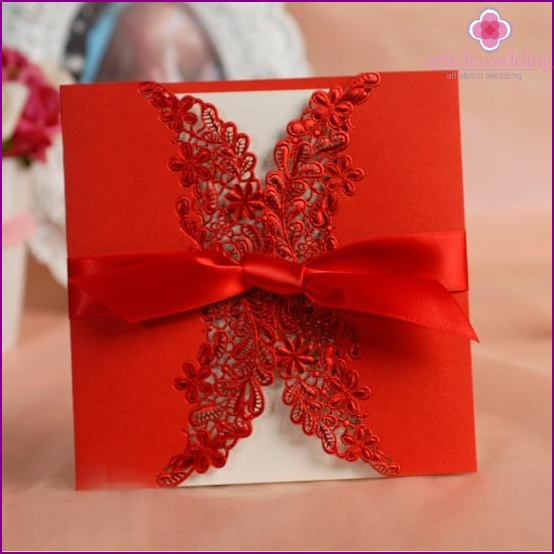 Invitation for Chinese wedding