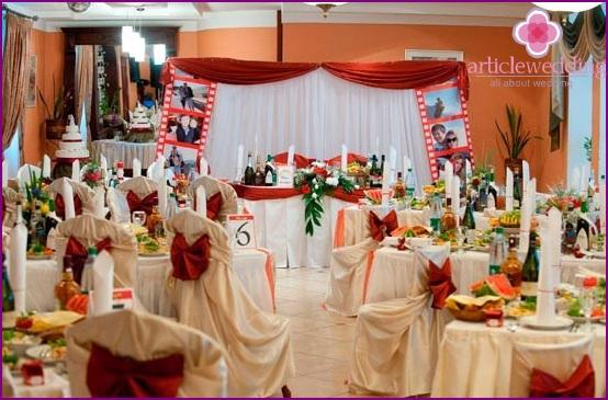 Hollywood-style wedding