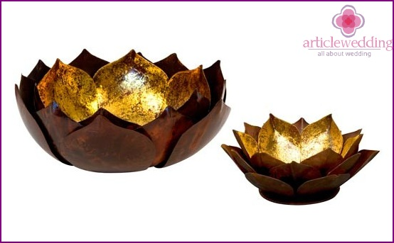 Variations glowing lotus flower