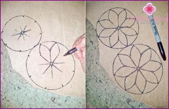 drawing petals