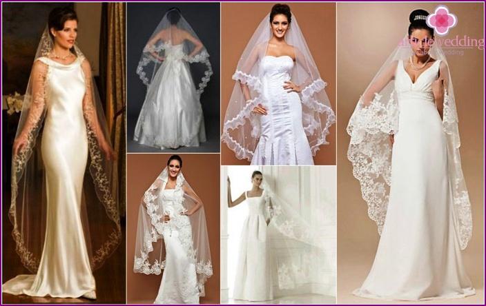 Ein langer Schleier Braut - Arten, mit einigen Kleidern und Frisuren ...