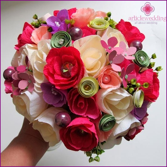 Paper bridal bouquet