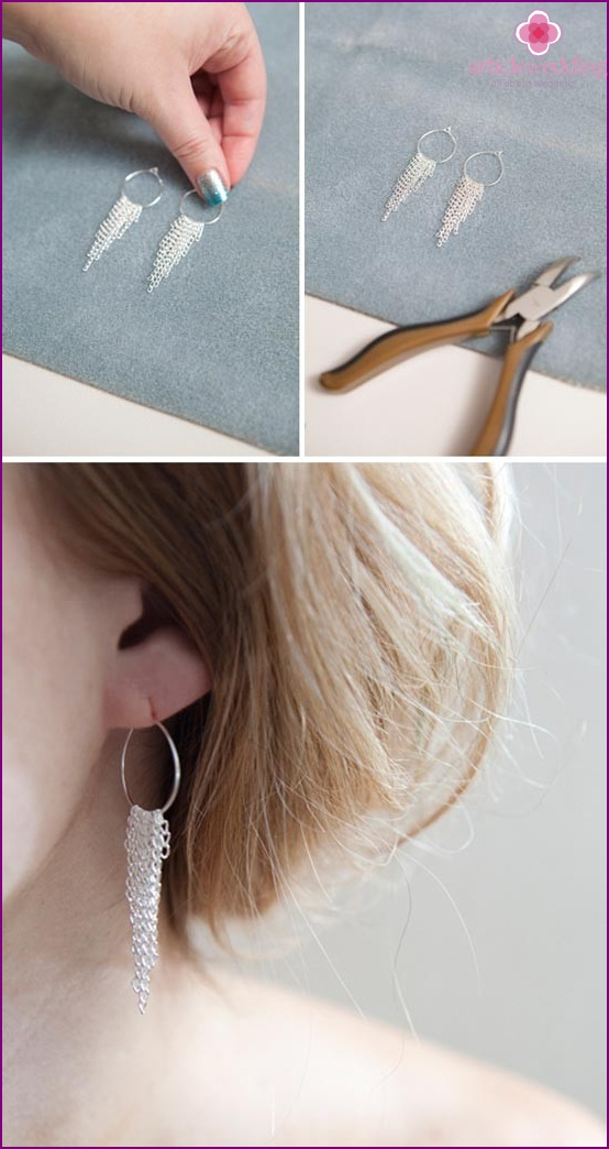Ready-made earrings