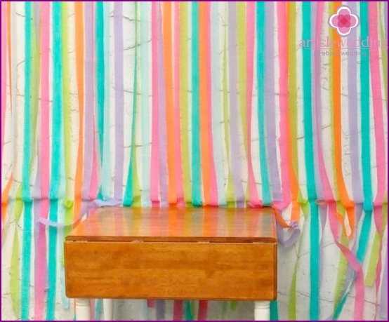 Colorful background of crepe paper