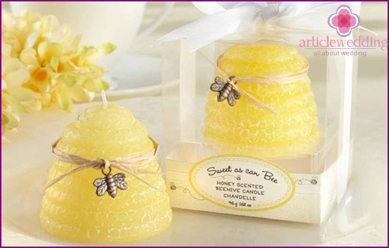 Beautiful candles in gift