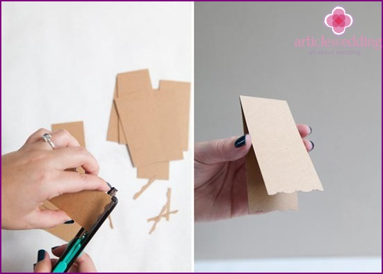 Cropped card edge