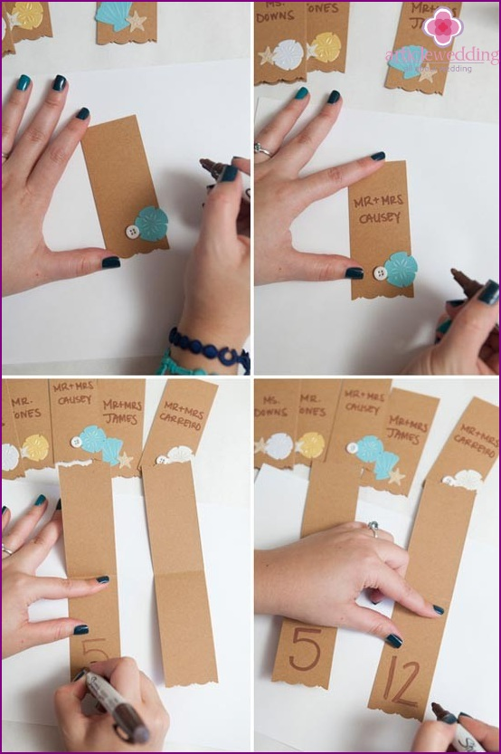 Seal the card with a marker