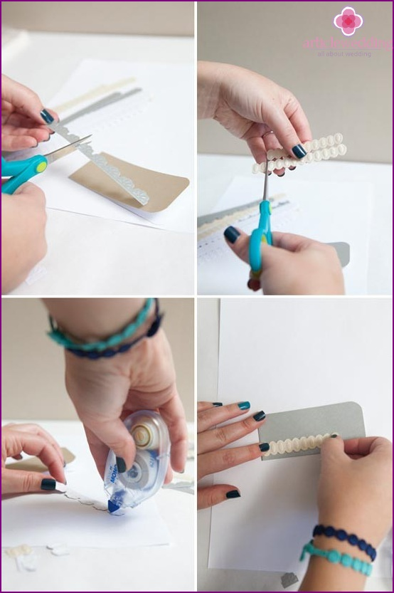 Decorate the cards for seating guests