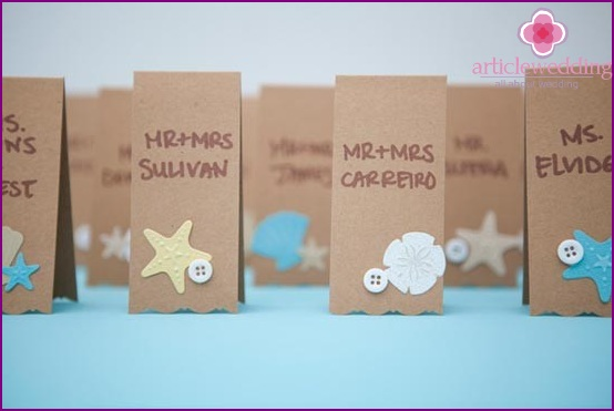 Delicate design cards for seating