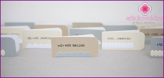 Charming design of individual cards