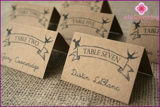 A simple idea for a seating card