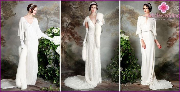 Winter-Hochzeitskleider 2015, Models und Designs mit Fotos und Videos