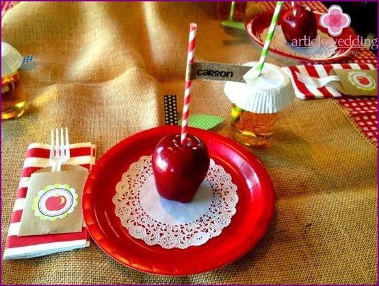 dekorationer med æbler