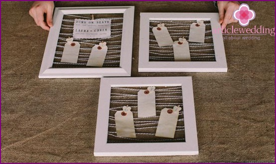 The plan for seating guests