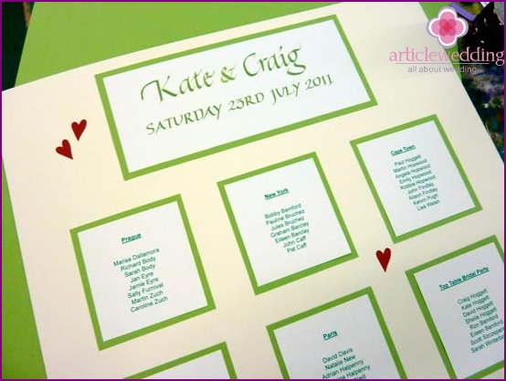 Bright plan for seating guests