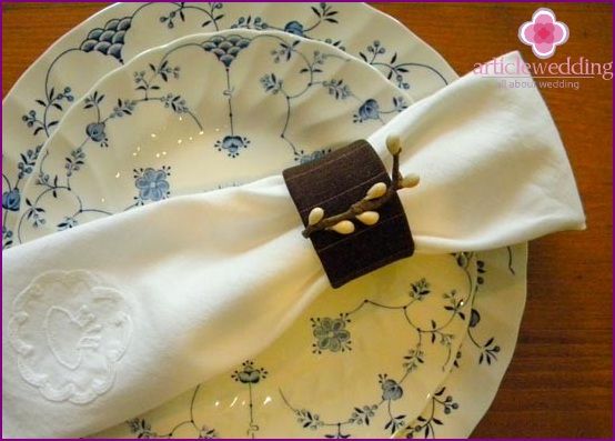 Napkin rings of tissue