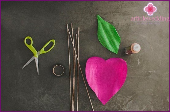 Materials for making a beautiful flower