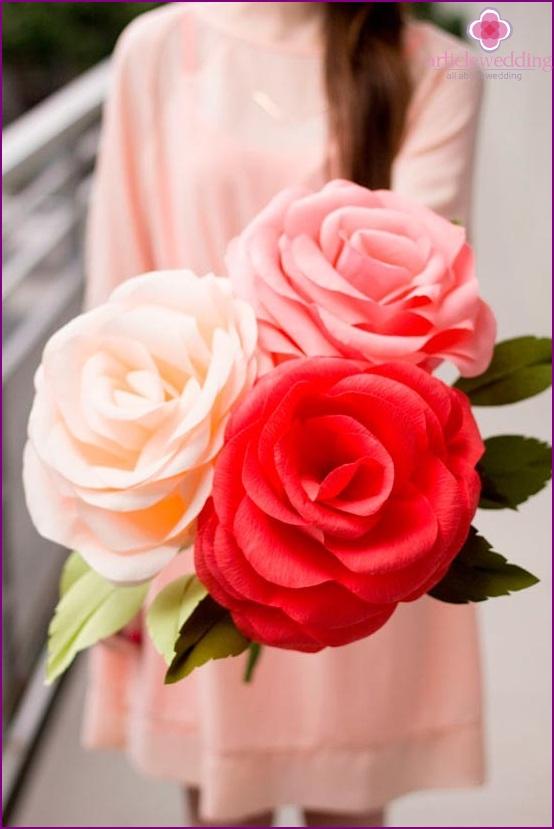 Delicate paper rose