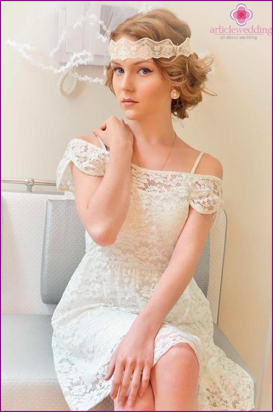 Lace Headband For Bride