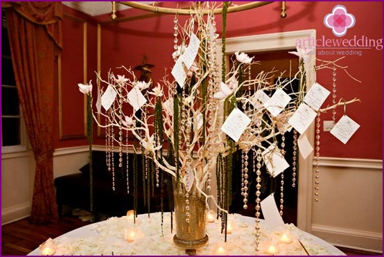 Tags for the wedding wish tree